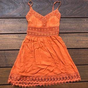 Lacey Orange Dress